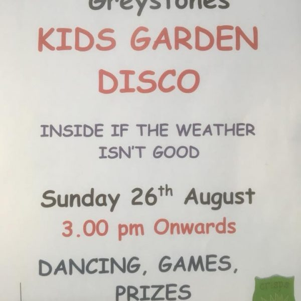 Kids Disco Sunday 26th August