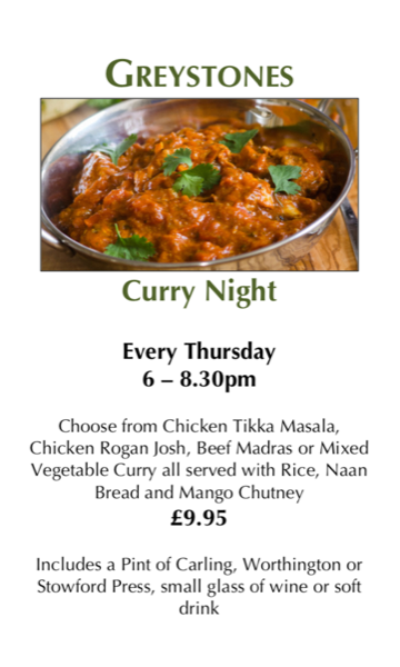 Thursday Night is Curry Night!