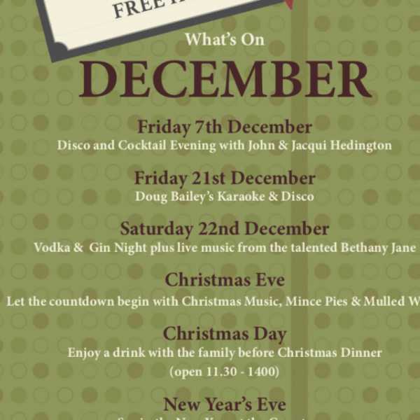 What's on at Greystones this December